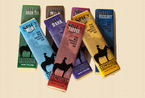 Chocolate bars from Cowgirl Chocolates