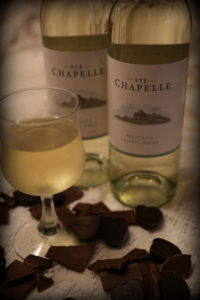 Ste. Chapelle Moscato pair nicely with dark chocolate.