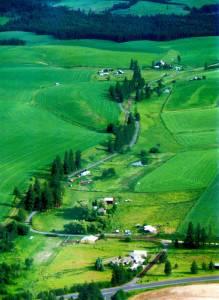 Wheat fields in the Palouse Region near Moscow.