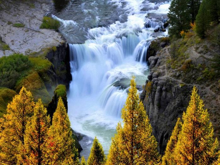 Lower Mesa Falls. Photo credit Rexburg Chamber.
