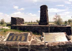 Commemorative plaques now stand at the entrance to the Minidoka Monument.
