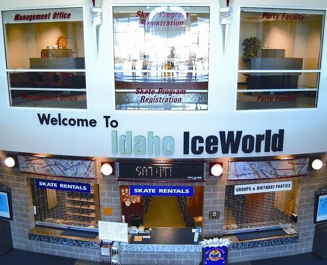 Entrance lobby at Idaho IceWorld in Boise.