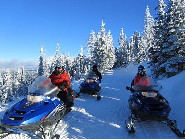 Snowmobiling in Idaho's northern panhandle.
