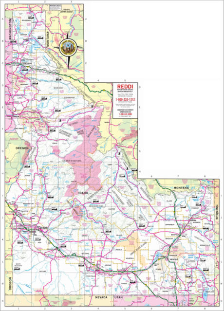 Idaho State Highway Map