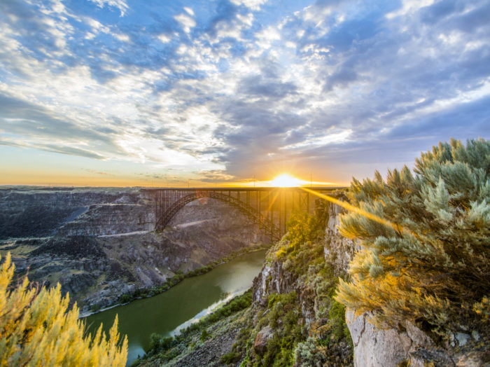 Perrine Bridge, Twin Falls. Photo Credit: Idaho Tourism.