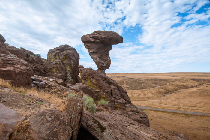 A picture of Balanced Rock.
