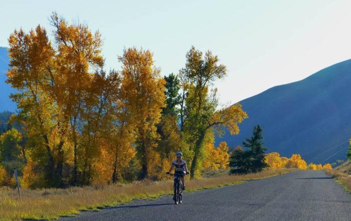 Biking on Trail Creek Road.