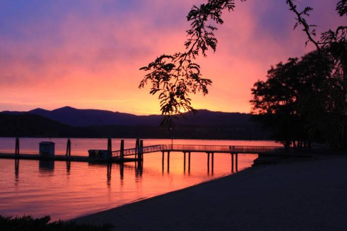 Sunset, Lake Coeur d'Alene