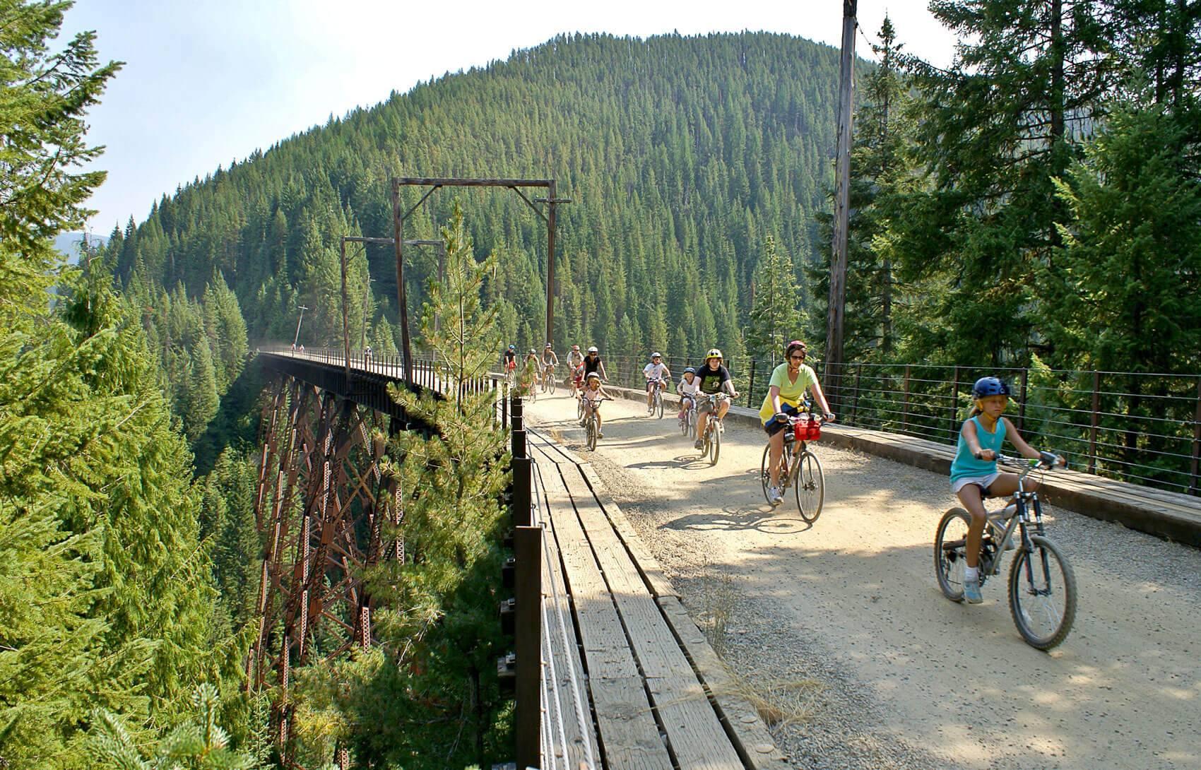 Rails To Trails Idaho Map.Route Of The Hiawatha Visit Idaho