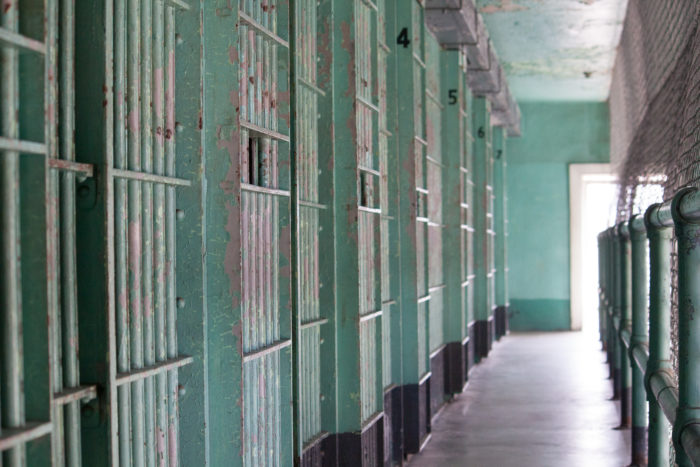 Old jail cells at Idaho State Penitentiary.
