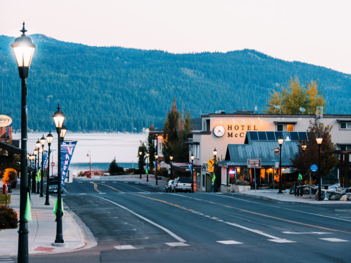 Downtown McCall, McCall. Photo Credit: Idaho Tourism.