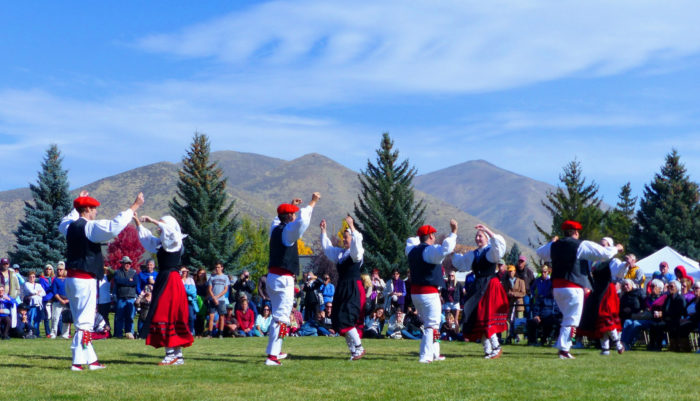 The Oinkari Basque Dancers perform during the four-day festival