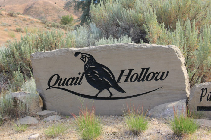 Quail Hollow Golf Course sign