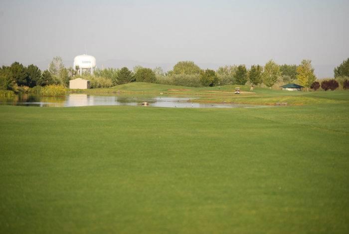 Watch for water hazards at Ridgecrest's Hole #4.
