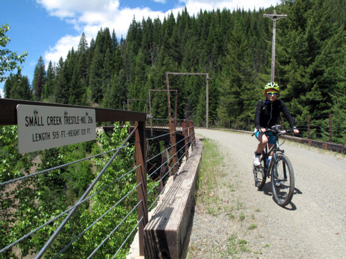Biking the Route of the Hiawatha.