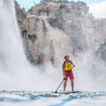 SUPing next to Shoshone Falls