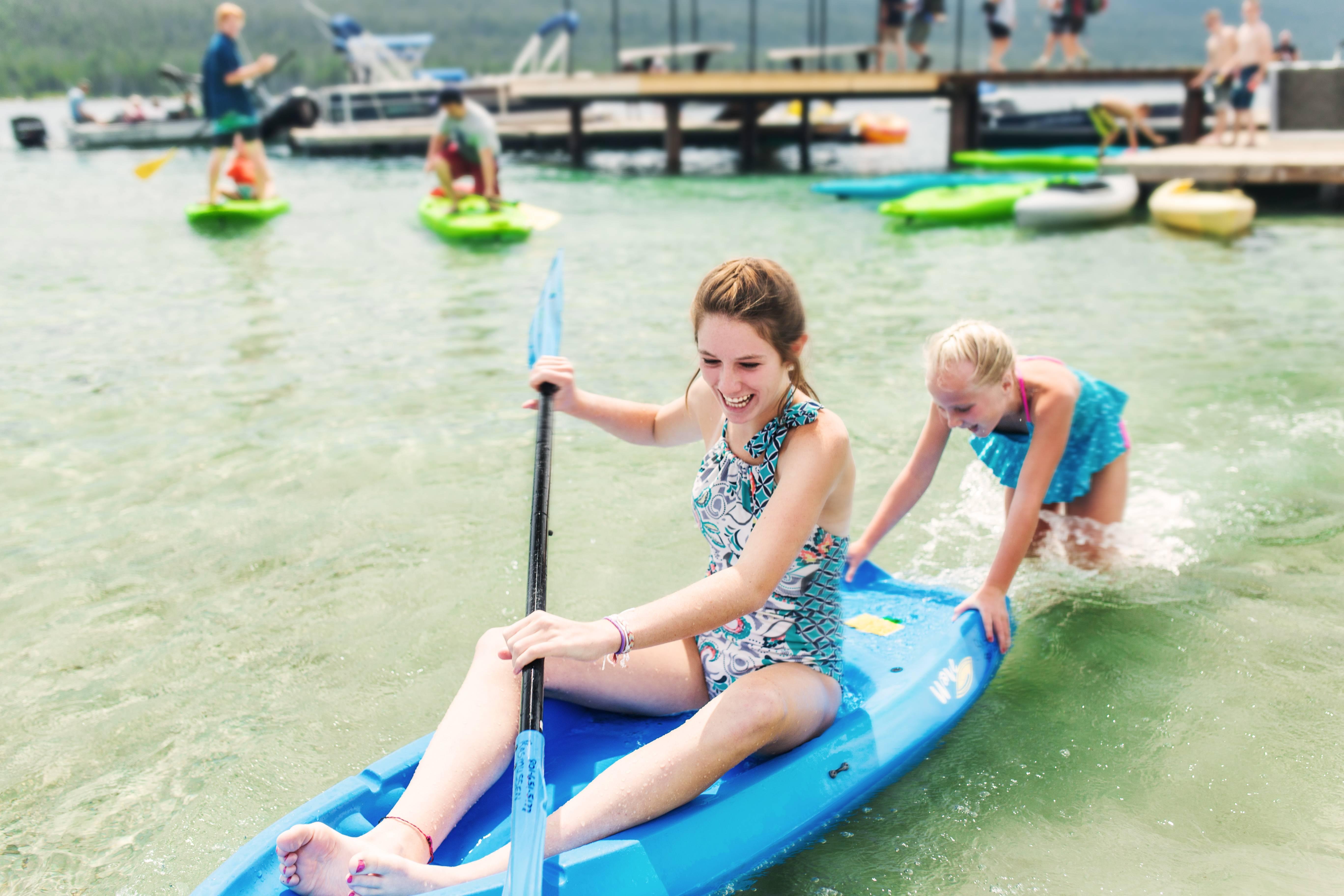 Kayaking on Redfish Lake.