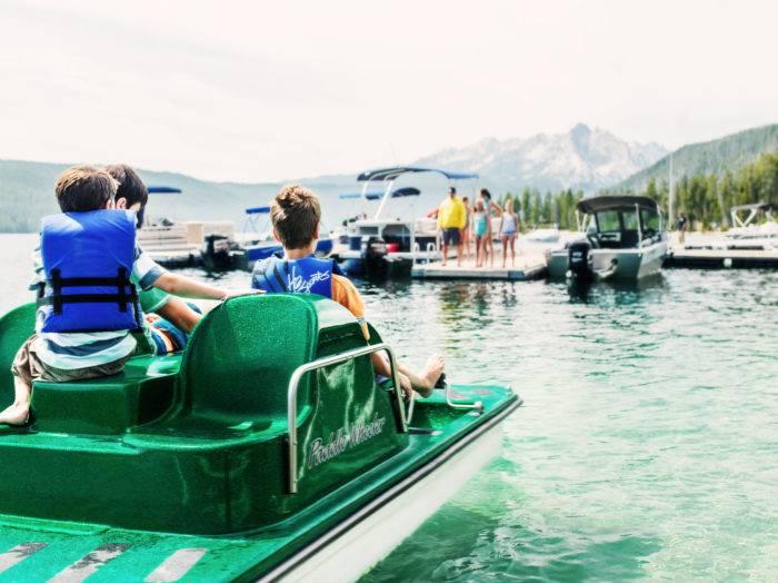 Paddleboat on Redfish Lake. Photo Credit: Idaho Tourism.
