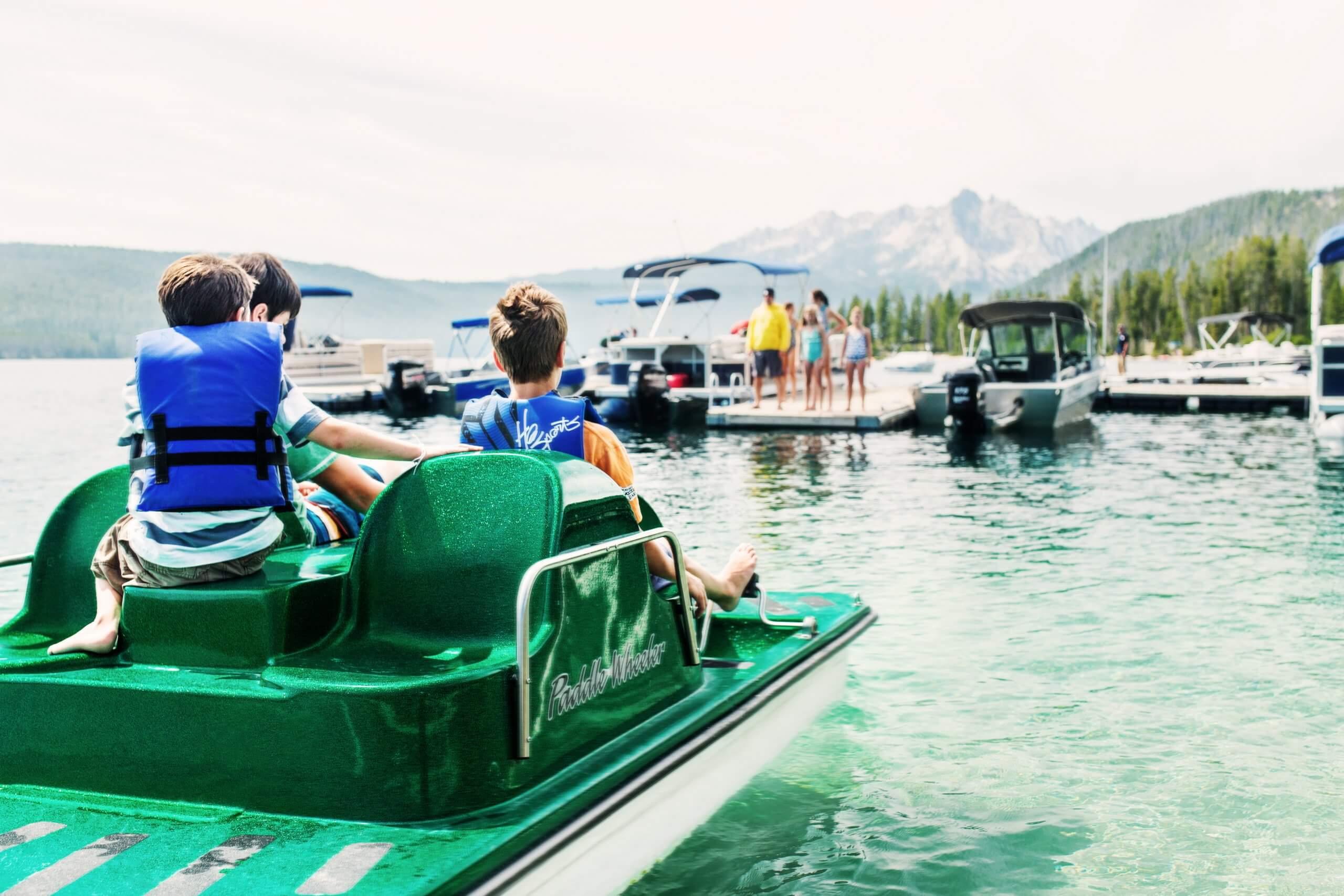 Paddleboat on Redfish Lake.
