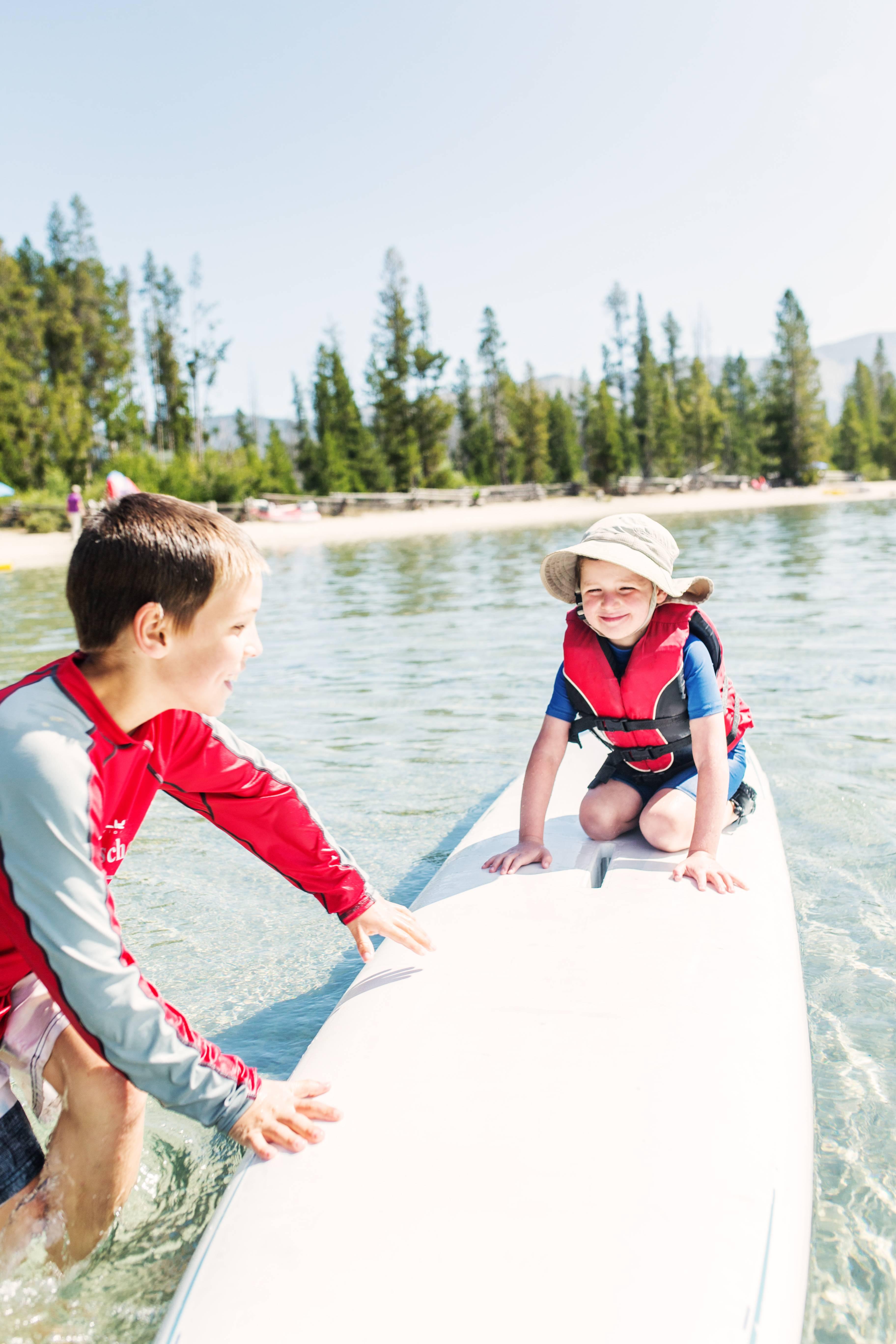 Stand up paddle boarding at Redfish Lake. Photo Credit: Idaho Tourism.