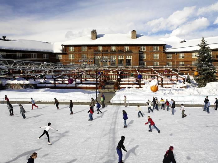 Winter Skating at Sun Valley Lodge. Photo Credit: Sun Valley Resort.