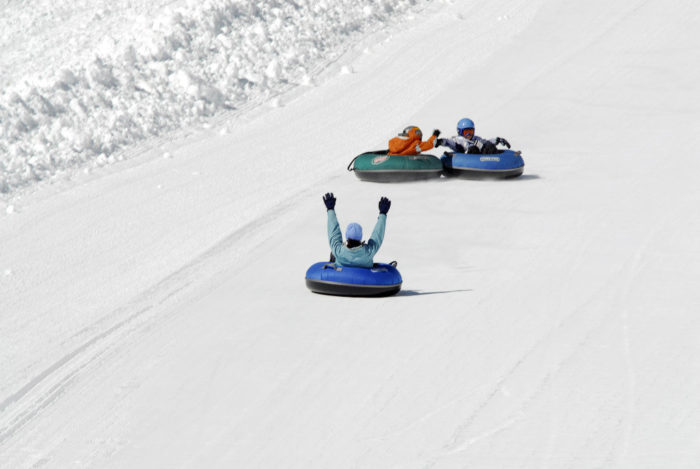 Bring the family to the Pepsi Goldrush Tubing Hill.