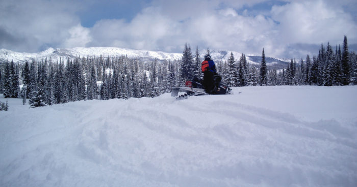 Snowmobiling Lolo Pass. Photo Credit: Idaho Tourism