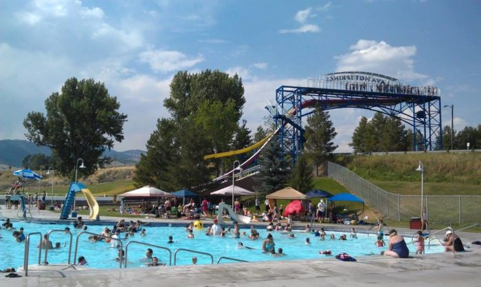 Lava Hot Springs swimming pools