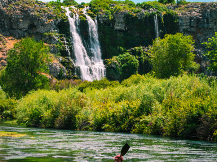 Kayaking at Thousand Springs.