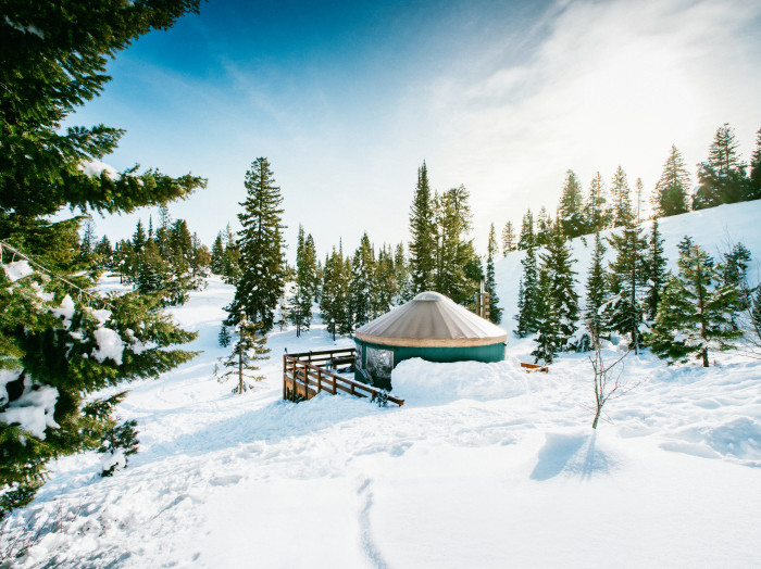 Yurt, Idaho City. Photo Credit: Idaho Tourism