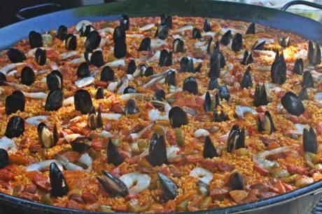 Paella at the Basque Market.