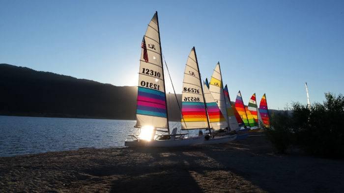 Sail boats on Cascade Lake