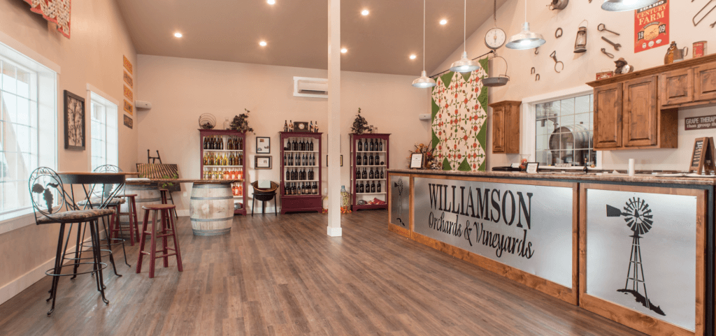Interior of Williamson Orchards and Vineyards