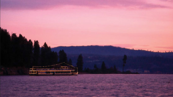 A winter cruise on Lake Coeur d'Alene. Photo Courtesy: Lake Coeur d'Alene Cruises.