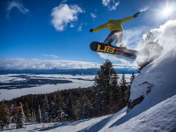 Snowboarding at Tamarack Resort. Photo Credit: Tamarack Resort