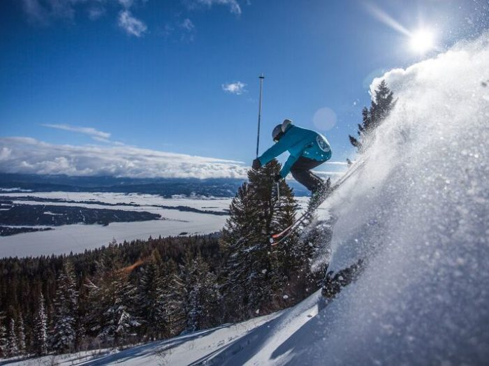 Hitting the slopes at Tamarack. Photo courtesy of Tamarack Resort.