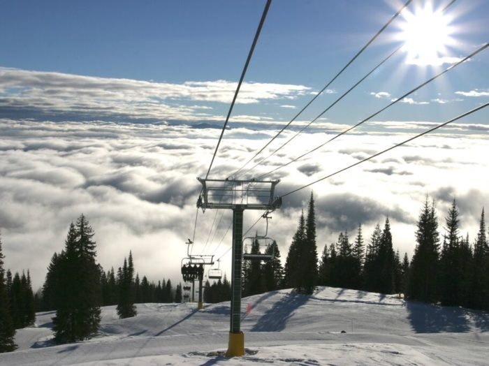 View from on top of Tamarack. Photo courtesy of Tamarack Resort.
