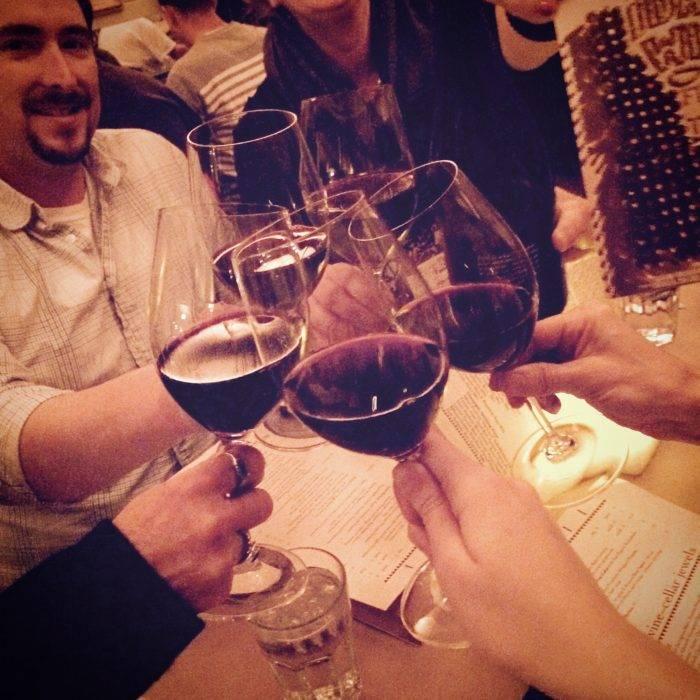 Enjoying a glass of Idaho wine at the Ketchum Grill