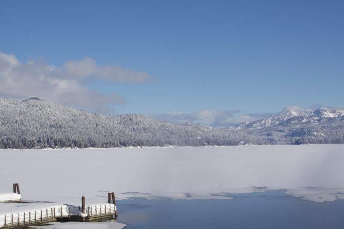 Payette Lake dock.