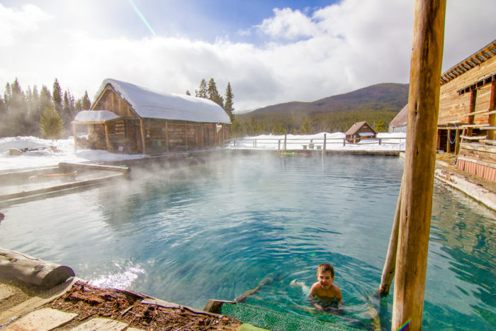 Warm soak in the hot springs.