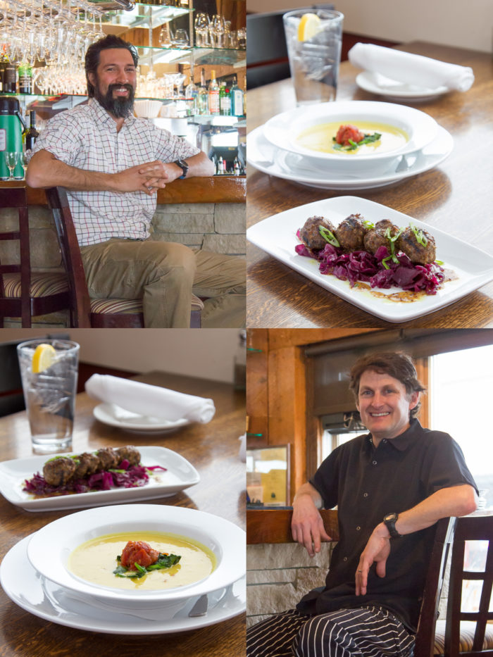 Collage, Rupert's menu items, Chef Kucy
