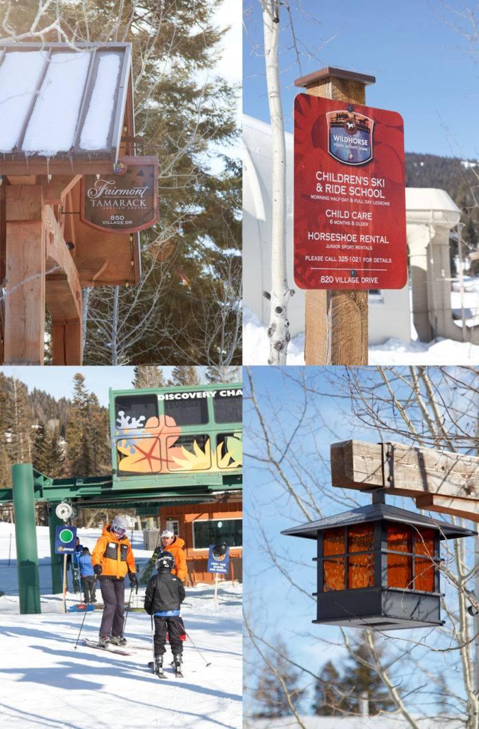Collage: sites around Tamarack