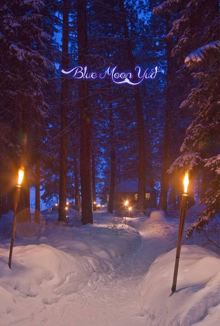 Dinner at Blue Moon Yurt.