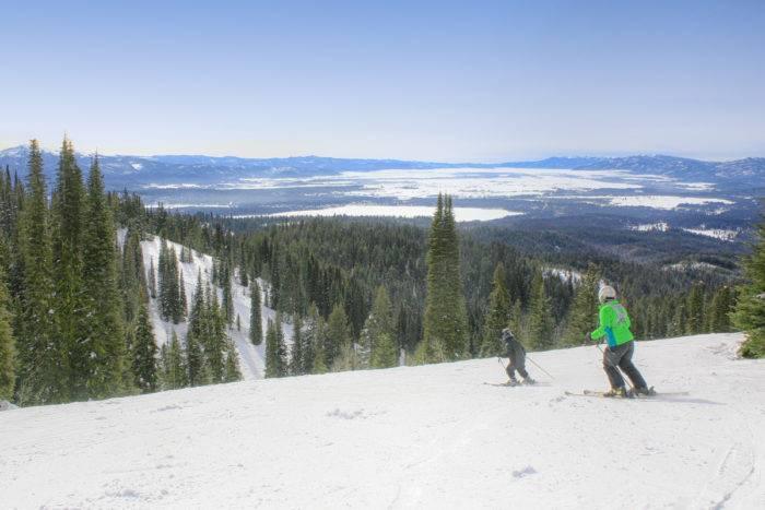 Skiing at Brundage Mountain.