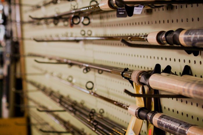 Fishing Rods at Tackle Tom's: Fishing and Outdoor Equipment