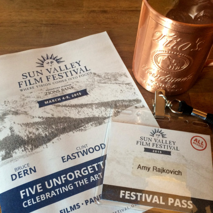 Pass and program for the Sun Valley Film Festival