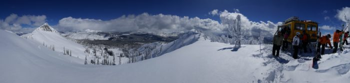 A look at what cat skiing at Brundage Mountain Resort has to offer. Photo Credit: Steven Andrews.