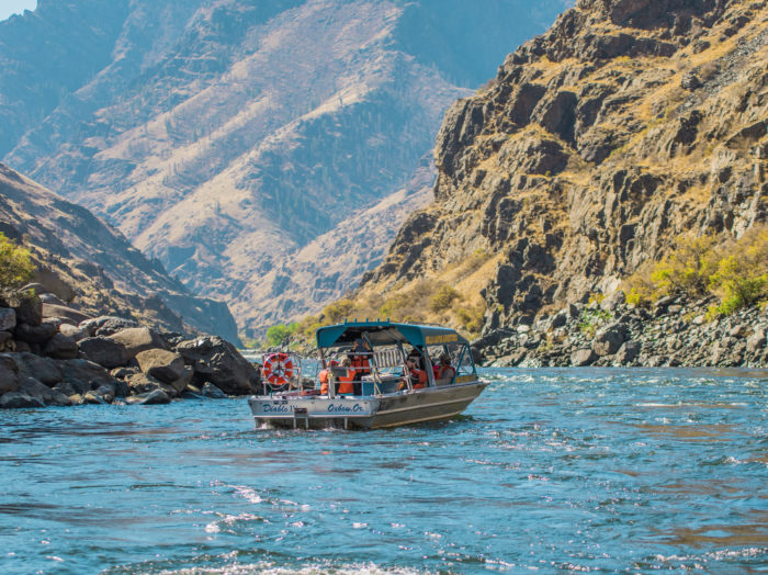 Jet Boating, Hells Canyon, Near Pittsburg Landing. Photo Credit: Idaho Tourism