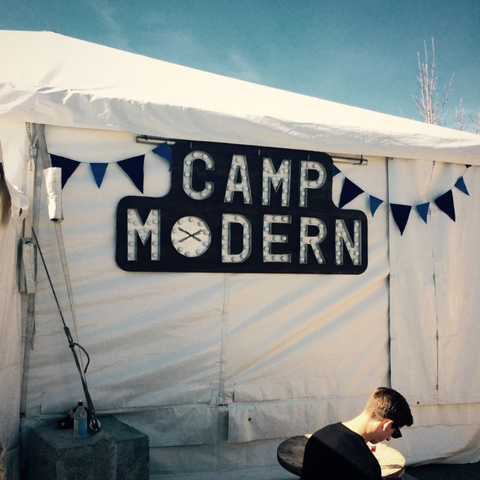 A tent at Treefort Music Fest