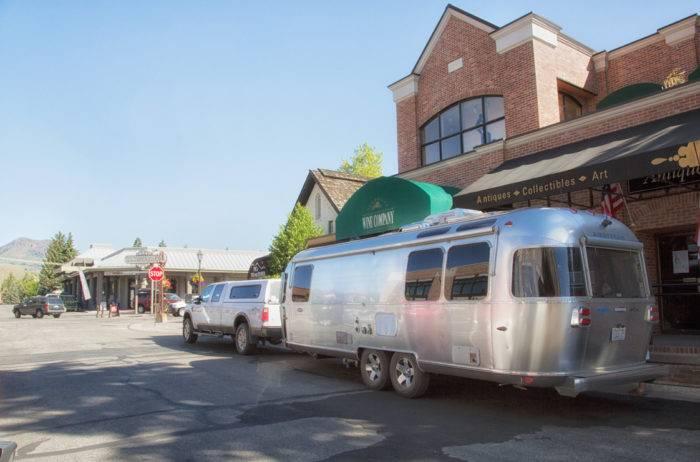 Airstream on a Ketchum street.